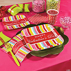Valentine Stripe Party Supplies