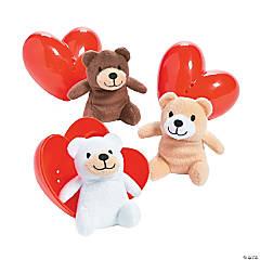 Valentine Stuffed Bear-Filled Hearts