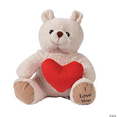 valentine stuffed bears with hearts - Valentine Day Bears