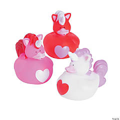 Valentine Unicorn Rubber Duckies