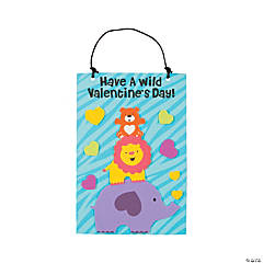 Valentine Zoo Animal Sign Craft Kit