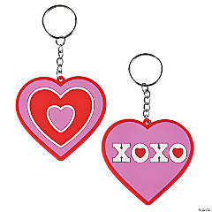 Valentine's Day Heart Key Chains