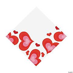 Valentine's Day Hearts Luncheon Napkins