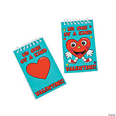 Valentine's Day Spiral Notepad Mini Sticker Scenes