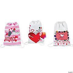 Valentine's Drawstring Backpack Card Holder Idea