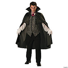 Vampire With Cape Adult Men's Costume