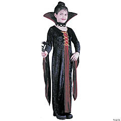 Victorian Vamp Velvet Child Girl's Costume