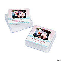 Vintage Collection Wedding Custom Photo Square Containers
