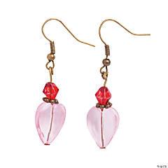 Vintage Crystal Heart Earrings Craft Kit