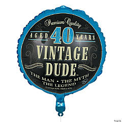 Vintage Dude 40th Birthday Metallic 18