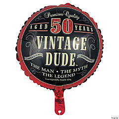 Vintage Dude 50th Birthday Metallic 18