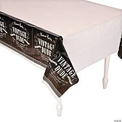 Vintage Dude Birthday Tablecloth