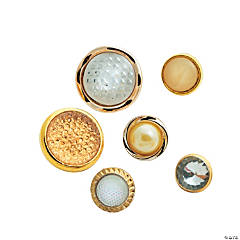 Vintage Gold Button Assortment