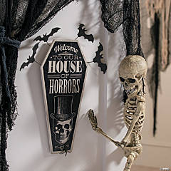 Vintage House of Horrors Sign Halloween Décor