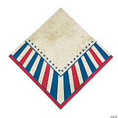 Vintage Patriotic Luncheon Napkins