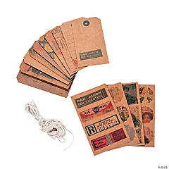Vintage Postage Stickers & Tags