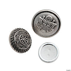 Vintage Silver Button Assortment