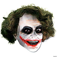 Vinyl 3/4 Joker™ Mask with Hair