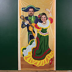 Vinyl Fiesta Couple Photo Door Banner