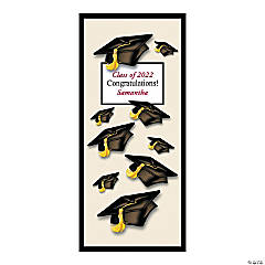 Vinyl Personalized Mortarboard Door Cover