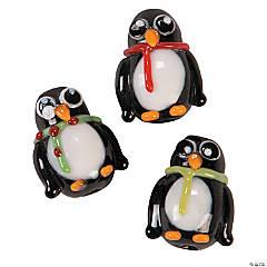 Wacky Penguin Lampwork Beads