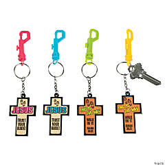 Walk His Way Backpack Clip Key Chains