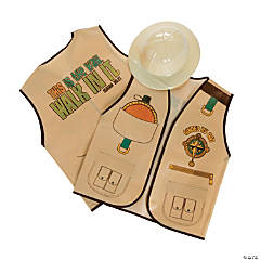 Walk His Way Vest & Safari Pith Helmet Set