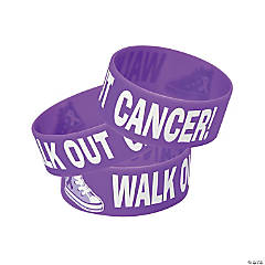 Walk out Cancer Big Band Bracelets