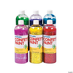 Washable Glitter Confetti Paint Set