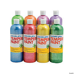 Washable Glitter Tempera Paint Set