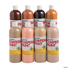 Washable Multicultural Tempera Paint Set