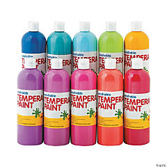 Washable Tropical Tempera Paint Set
