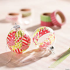 Washi Tape Christmas Ornament Idea