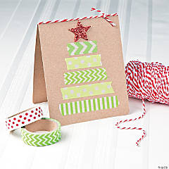 Washi Tape Christmas Tree Card Idea