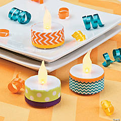 Washi Tape Tea Lights Idea