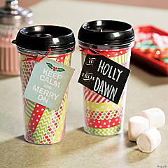 Washi Tape Travel Mug Gift Idea