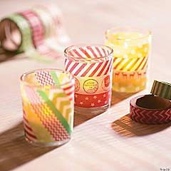 Washi Tape Votive Holder Décor Idea
