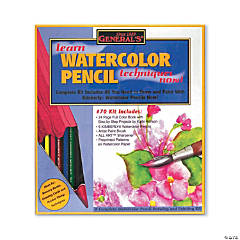 Watercolor Pencil Techniques Kit