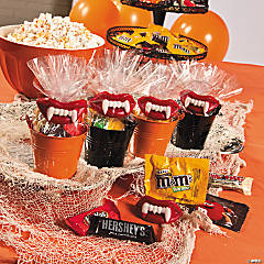 Wax Teeth Halloween Candy Buffet Idea