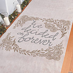 We Decided on Forever Aisle Runner
