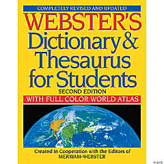 Webster's Dictionary & Thesaurus for Students, Second Edition, Set of 2 books