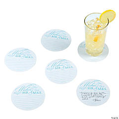 Wedding Advice Card Coasters