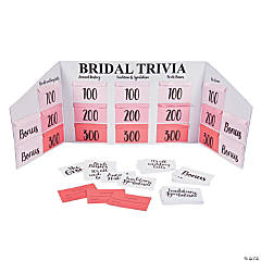Wedding & Bridal Trivia Game Board Set