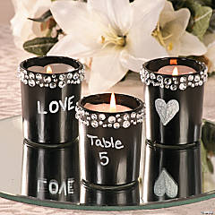 Wedding Chalkboard Votive Idea
