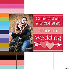 Wedding Custom Photo Yard Sign