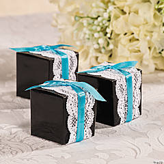 Wedding Lace Favor Box Idea