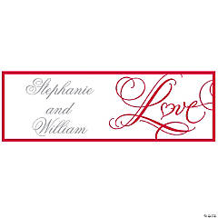 Wedding Love Personalized Banner
