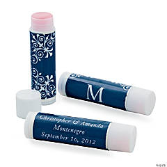 Wedding Monogram Navy Lip Balm