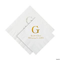 Monogram wedding cake napkins