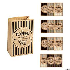 Wedding Popcorn Kraft Paper Treat Bags